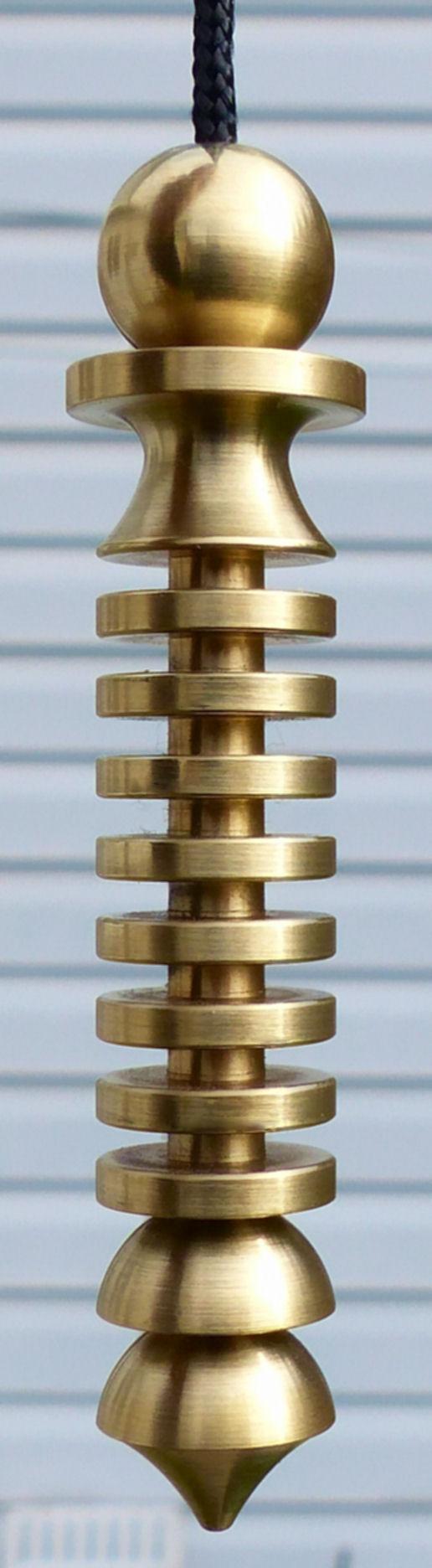 Mer-Isis Brass Large Dowsing Pendulum, Divining Mind