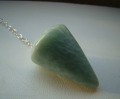Amazonite Faceted pendulum