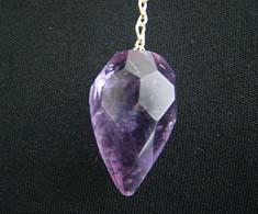 Amethyst Faceted Tear Drop Pendulum
