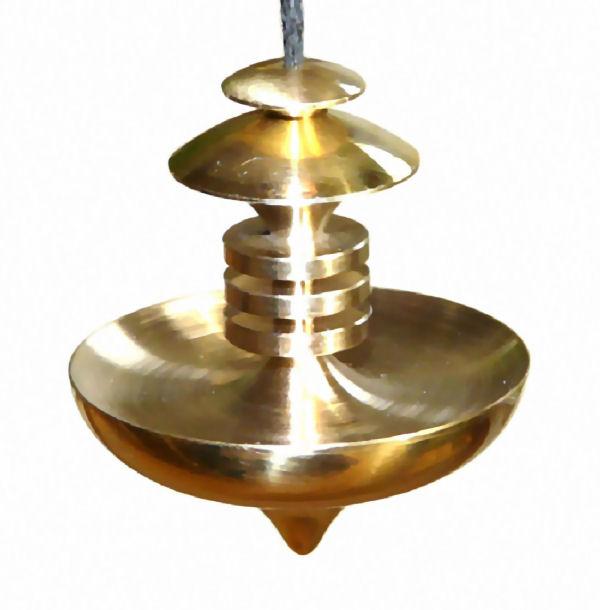 Mer Isis Brass Large Dowsing Pendulum Divining Mind