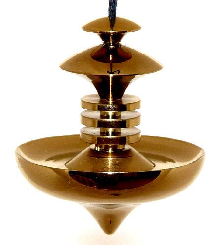 Mer-Isis Brass Medium Dowsing Pendulum with gold treatment