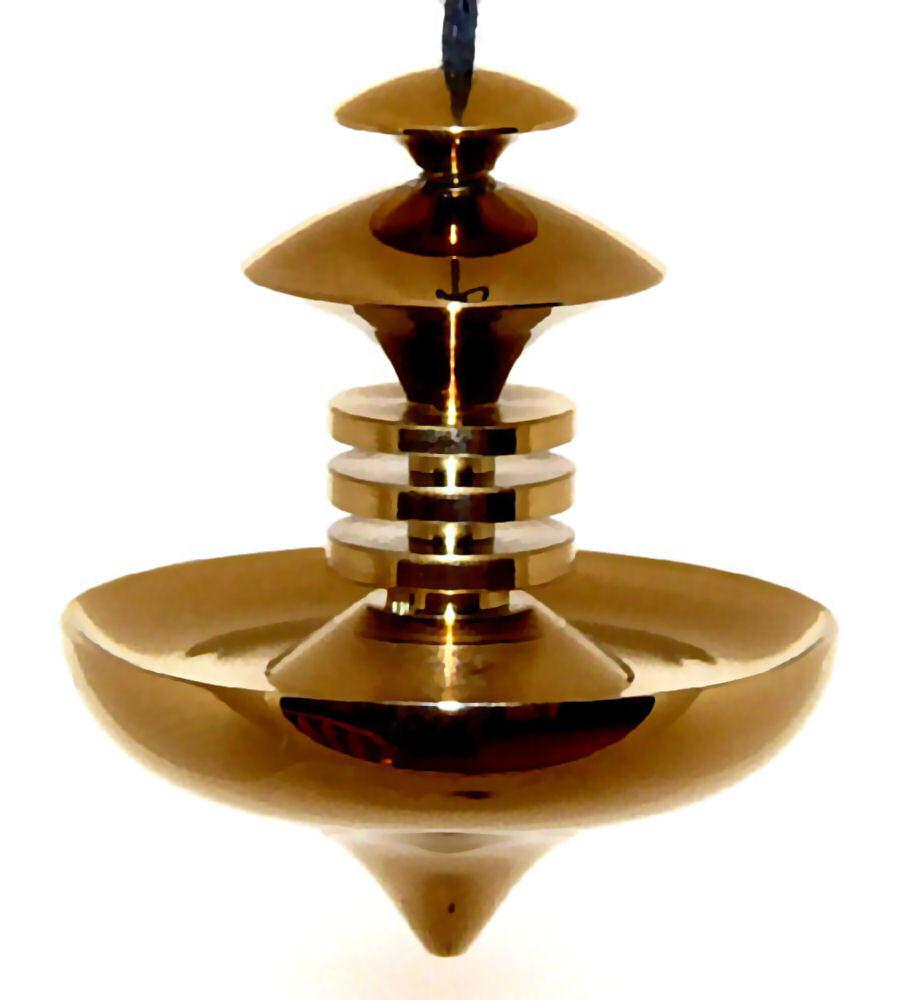 Mer-Isis Brass Large Dowsing Pendulum Gold Treatment
