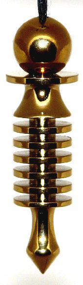 Super Six Gold Treatment Dowsing Pendulum